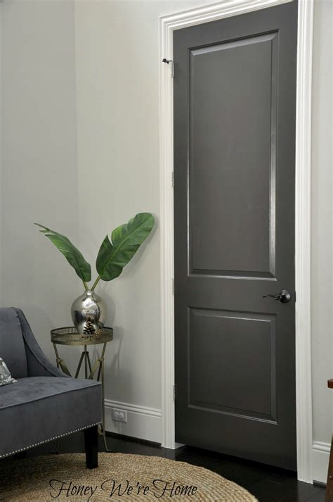 Dark Gray Painted Interior Doors   Black Fox, Sherwin