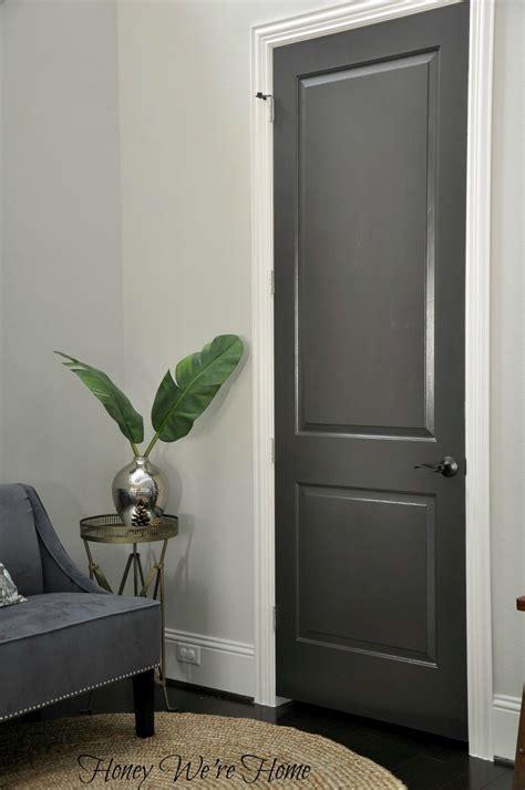 Dark Gray Painted Interior Doors   Black Fox, Sherwin