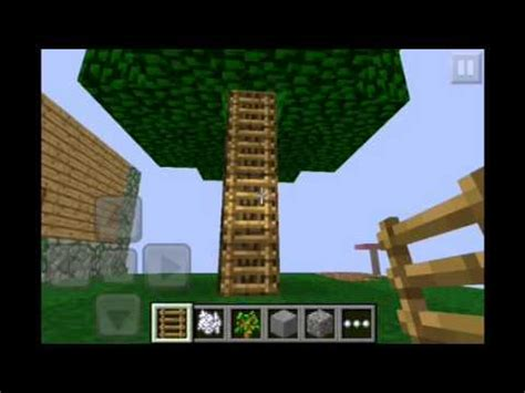 how to build a house in minecraft pe how to make a tree house in minecraft pe youtube
