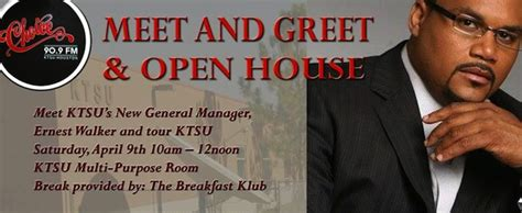 Come Meet Our New Style Blogs by Come Out April 9 To Meet New Ktsu Gm Ernest Walker
