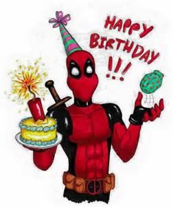 deadpool birthday card happy birthday deadpool birthdays happy