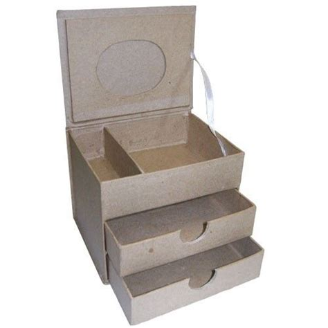 Cardboard Drawer by Cardboard Jewellery Box 2 Drawers Craft Paint Decorate