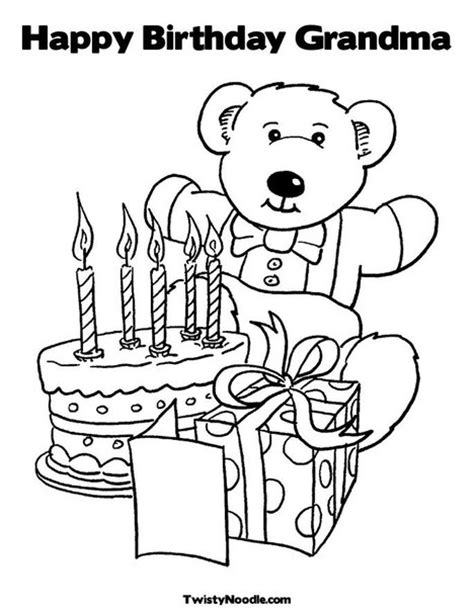printable birthday cards grandma happy birthday grandma coloring pages getcoloringpages com