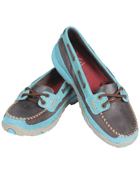 twisted x shoes twisted x boots 174 driving mocs brown turquoise