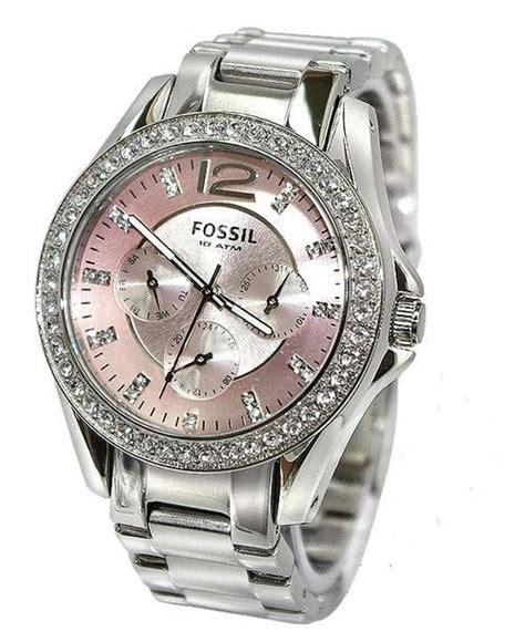 s watches fossil glitz pink boyfriend s