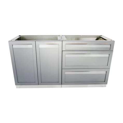 stainless steel cabinets outdoor kitchen cabinet home 4 life outdoor stainless steel 2 piece 64x35x22 5 in