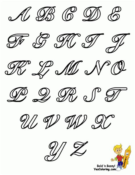 fancy alphabet letters pretty cursive fonts for
