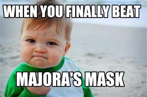 Baby Fist Meme - meme creator when you finally beat majora s mask meme
