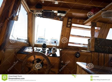 parts of a boat cockpit cockpit of fishing boat stock photo image 47424845