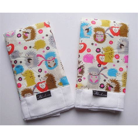Babybib B11 michael miller hedgehog baby burp cloth set 2 modern handmade essentials page 1