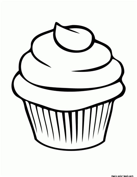 cupcake coloring page online free coloring pages of dessert