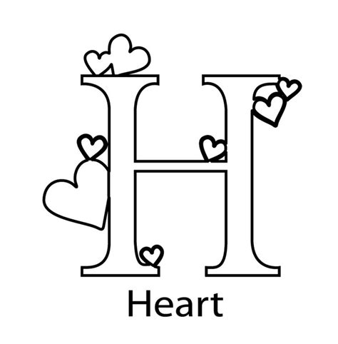 letter h coloring pages preschool letter h to color kids coloring europe travel guides com