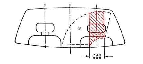 Aufkleber Windschutzscheibe Erlaubt österreich sichtbereich bei fahrzeugen bis 3 5t bild sichtbereich