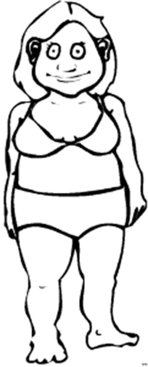 Fette Frau In Badewanne by Dicke Frau Im Ausmalbild Malvorlage Comics