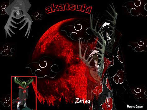 wallpaper naruto hitam putih hd zetsu akatsuki ninja pelarian misterius simple is