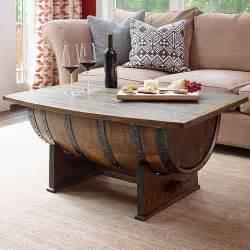 Wine Barrel Coffee Table Handmade Vintage Oak Whiskey Barrel Coffee Table Wine Enthusiast