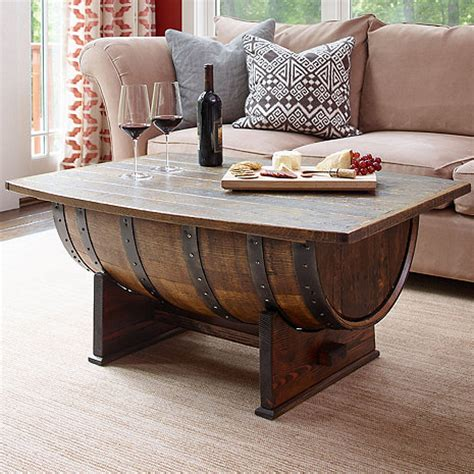 whiskey barrel coffee table handmade vintage oak whiskey barrel coffee table wine