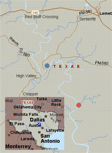 texas colorado map map for colorado river texas white water bend to colorado bend state rec area