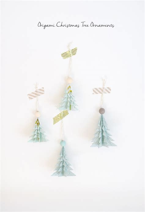 Origami Tree Ornament - 100 diy decorations that will fill your home