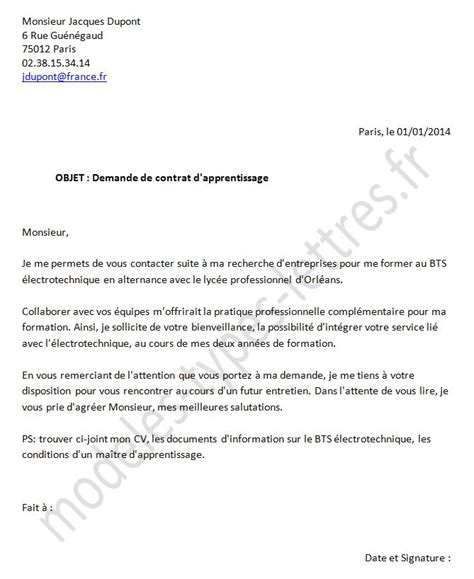 Lettre De Motivation De Apprentissage Mod 232 Le De Lettre De Motivation Pour Un Contrat D Apprentissage