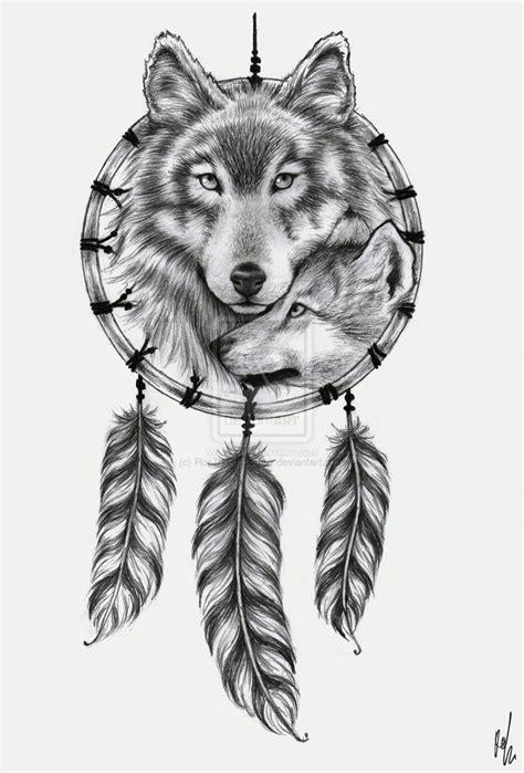25 unique wolf dreamcatcher tattoo ideas on pinterest