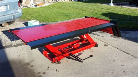lawn mower lift table harbor freight harbor freight hydraulic lift table for sale in spokane