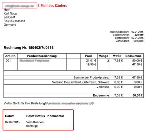 Rechnung Leistungsdatum Muster Inhalt Der Pdf Rechnung Anpassen