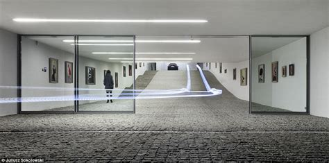 gallery house futuristic home features a drive thru gallery daily