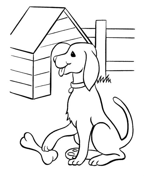 free coloring pages dog breeds pet dog coloring pages free printable pet dog and his bone