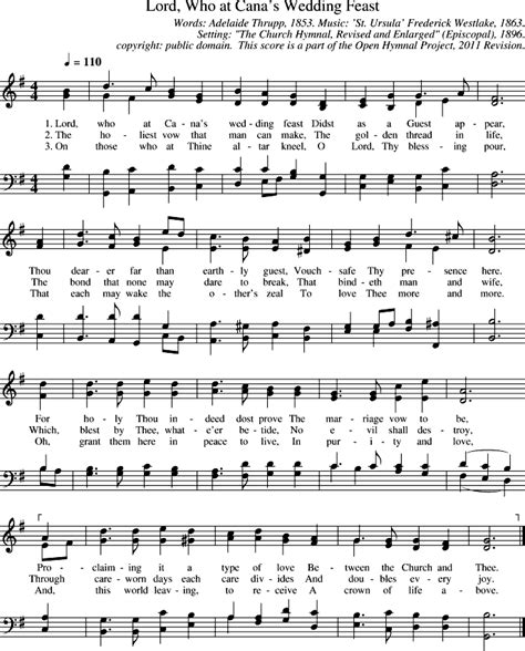 Wedding At Cana Lyrics by Open Hymnal Project Lord Who At Cana S Wedding Feast