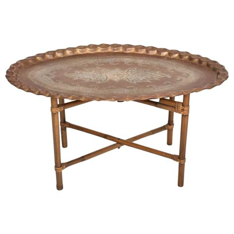 brass coffee table india anglo indian brass and bamboo coffee table