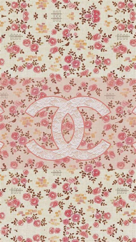 wallpaper untuk iphone coco chanel flowers pattern logo wallpaper wallpaper
