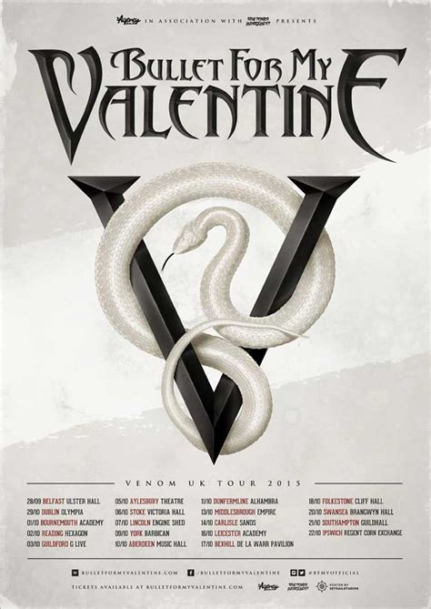 bullet for my tour bullet for my announce new album venom and uk