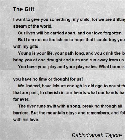 gift poems the gift poem by rabindranath tagore poem comments