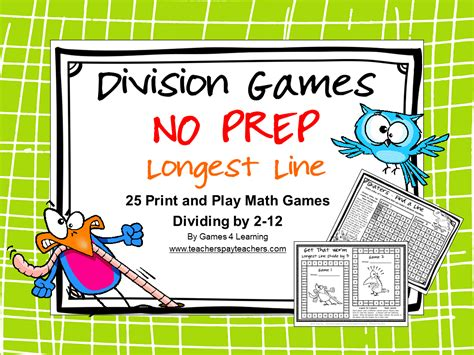 printable division games year 2 fun games 4 learning more no prep math games freebies