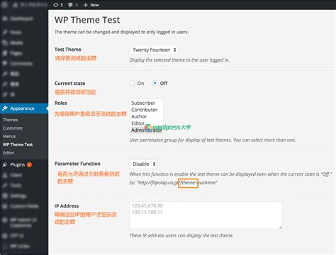 quiz theme html 使用 wp theme test 在线测试 wordpress 主题 wordpress大学