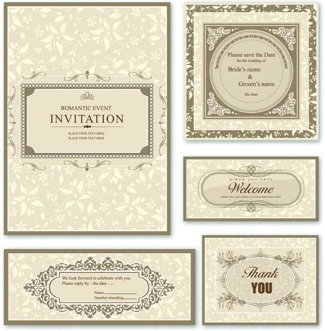 wedding invitation card design template free free wedding invitation card design vector 01