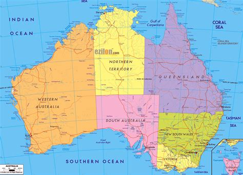 picture of map of australia maps of australia map library maps of the world
