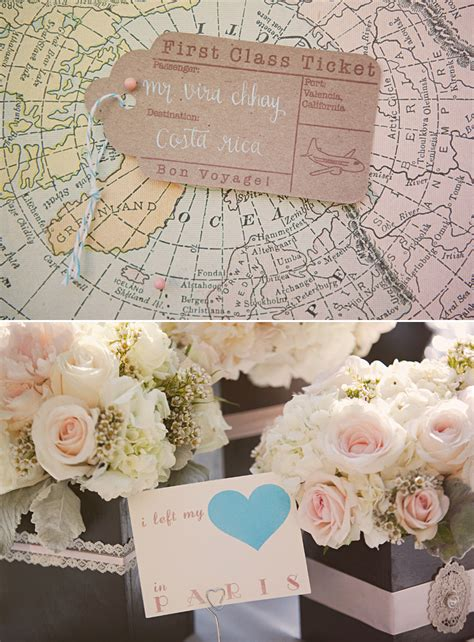vintage travel decor travel themed vintage wedding onewed com
