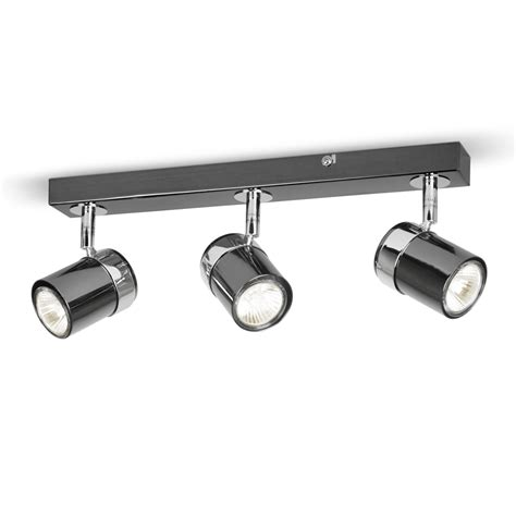 Kitchen Spot Light Modern Black Silver Chrome 3 Way Spot Kitchen Ceiling Light Spotlight Bulbs Ebay