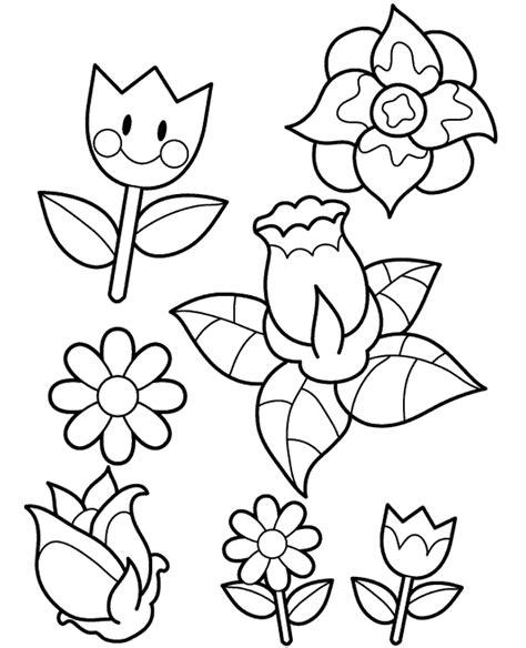 coloring pages of different types of flowers desenhos de flores