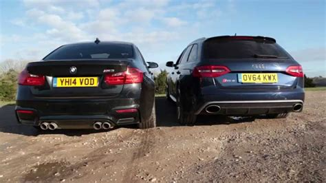 Audi Rs4 Vs by Bmw M3 Vs Audi Rs4 Engine And Exhaust Noise