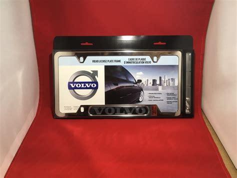 buy  genuine   volvo license plate frame chrome plated  volvo oem parts direct