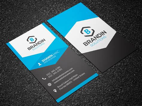 modern business card template vertical modern vertical business card 25 graphic