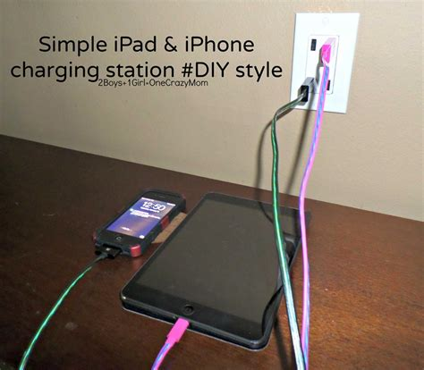 diy usb charging station create a simple diy iphone and ipad charging station to