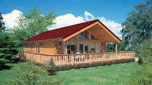One Story Floor Plan Log Home Design Plan And Kits For Newport