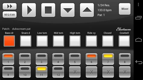drum pattern android electrum drum machine sler v4 8 for android propchesni