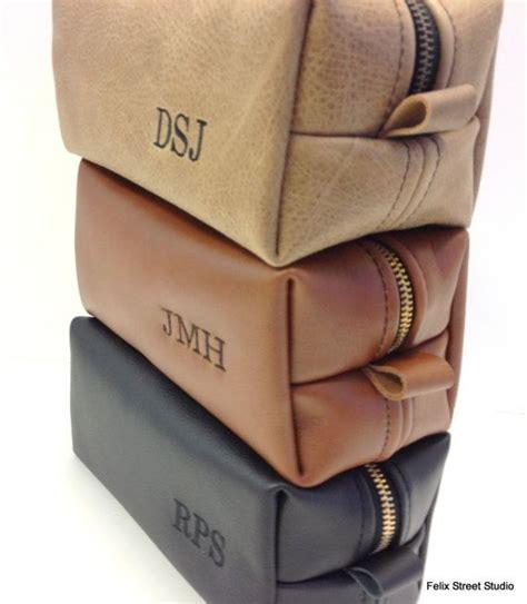 Handmade Leather Dopp Kit - leather dopp kit bag with free monogram and
