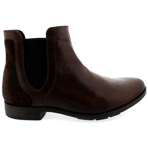 mens leather chelsea boots uk mens fly pyne pull on smart leather chelsea ankle