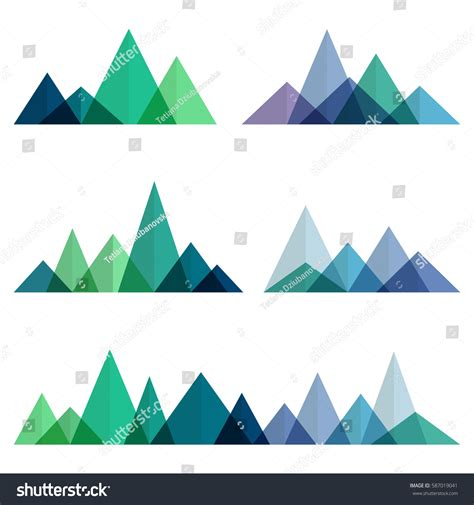 abstract geometric design elements vector abstract mountains ridges geometric style vector stock